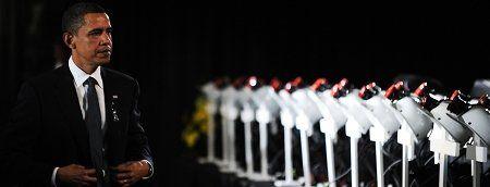 奥巴马悼念遇难矿工 逐一念出全部死者姓名